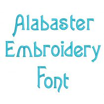 Alabaster Embroidery Font
