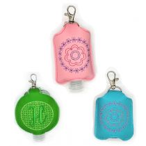 In The Hoop Hand Sanitizer Holder Designs by JuJu Machine Embroidery Designs