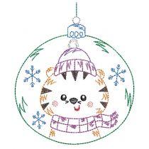 Animal Ornaments Vintage Stitch