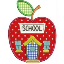 Rule The School Applique Machine Embroidery Designs by JuJu
