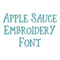 Applesauce Embroidery Font