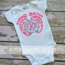 Baby Feet Monogram Frame