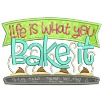 Bakers Word Art Machine Embroidery Designs by JuJu