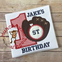 Baseball Glove Monogram Frame