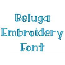 Beluga Embroidery Font