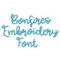 Bonfires Embroidery Font