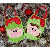 Designs by Juju In The Hoop Machine Embroidery Designs Elf Christmas Treat Bags