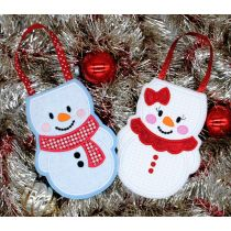 Designs by Juju In The Hoop Machine Embroidery Designs Snowman Christmas Treat Bags