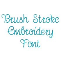 Brush Stroke Embroidery Font