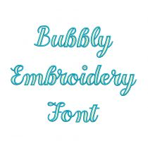 Bubbly Embroidery Font