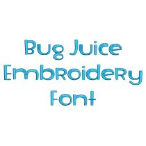 Bug Juice Embroidery Font