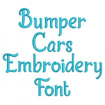 Bumper Cars Embroidery Font Machine Embroidery Designs by JuJu