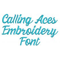 Calling Aces Embroidery Font Machine Embroidery Designs by JuJu