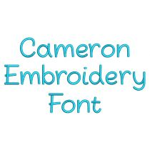 Cameron Font Machine Embroidery Designs by JuJu