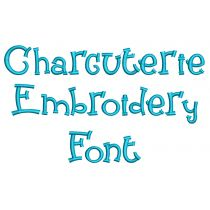 Charcuterie Embroidery Font Machine Embroidery Designs by JuJu