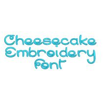 Cheesecake Embroidery Font
