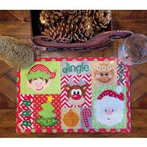 In The Hoop Christmas Placemat 1 Digital Machine Embroidery Designs by JuJu Exclusive