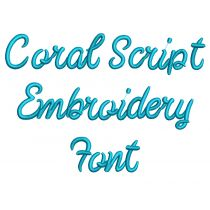 Coral Script Embroidery Font