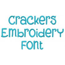 Crackers Embroidery Font