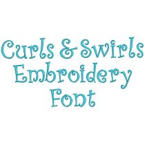 Curls And Swirls Embroidery Font