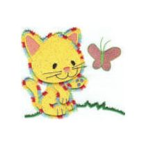 Cute Furry Kittens Applique 4x4 and 5x7