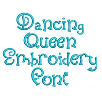 Dancing Queen Embroidery Font Machine Embroidery Designs by JuJu
