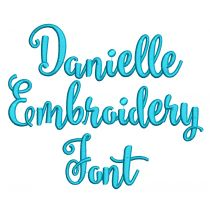 Danielle Embroidery Font