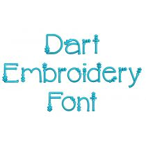 Dart Embroidery Font