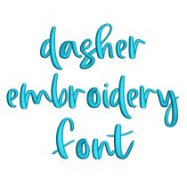 Dasher Embroidery Font