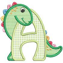 Dino Hugs Applique Alphabet
