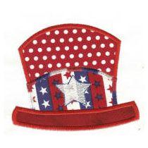 Free Patriotic Hat Applique Machine Embroidery Design