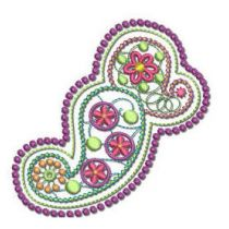 Free Paisley Machine Embroidery Design