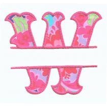 Split Fishtail Applique Alphabet Wanda Designs by JuJu