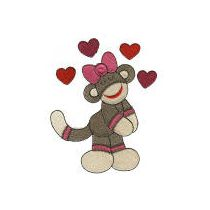 Valentine Sock Monkeys Filled Version