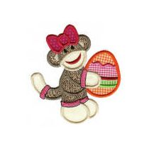 Easter Sock Monkeys Applique