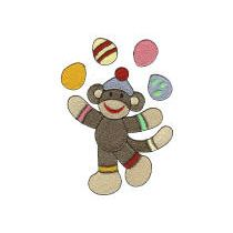 Easter Sock Monkeys Filled
