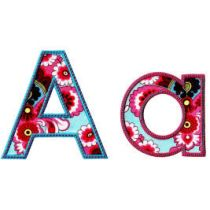 Simply Sweet Block Applique Font