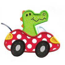Cute Animals in Cars Applique