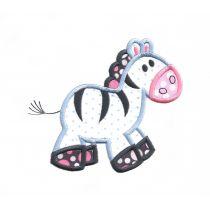 Cute Zebra Applique machine embroidery designs