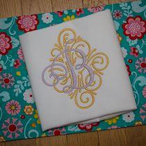 Adorn Ornamental Monogram Alphabet Embroidery Designs by JuJu