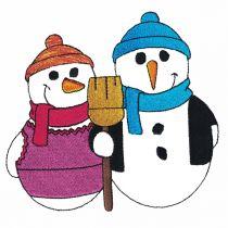 Super Sweet Filled Snowmen Machine Embroidery Designs by JuJu