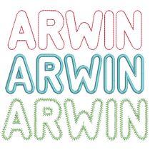 Arwin Applique Alphabet