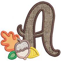 Autumn Applique Alphabet