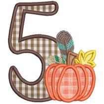Autumn Applique Numbers