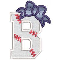 Baseball Bow Alphabet