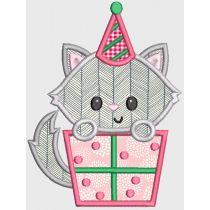 Birthday Cats Applique