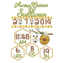 Bumblebee Birth Announcement Template