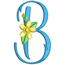 Buttercup Monogram Machine Embroidery Designs By JuJu