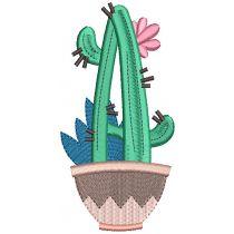 Cactus Alphabet Digital Machine Embroidery Designs by JuJu