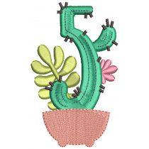Cactus Numbers Digital Machine Embroidery Designs by JuJu